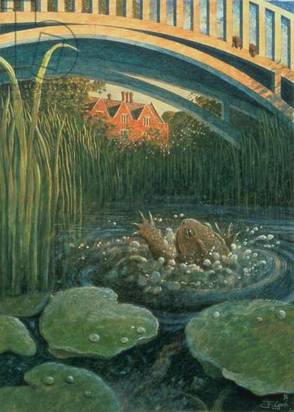 Like Summer Tempests Came His Tears, illustration to 'The Wind in the Willows' by Kenneth Grahame (1859-1932) 1994 (tempera on paper)
