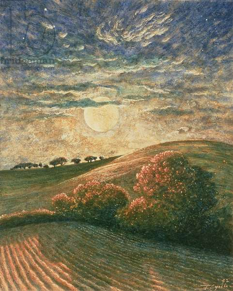 Moonscape, 1992 (tempera on paper)