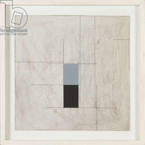 Rotation I, 1981 (mixed media on scraper board)