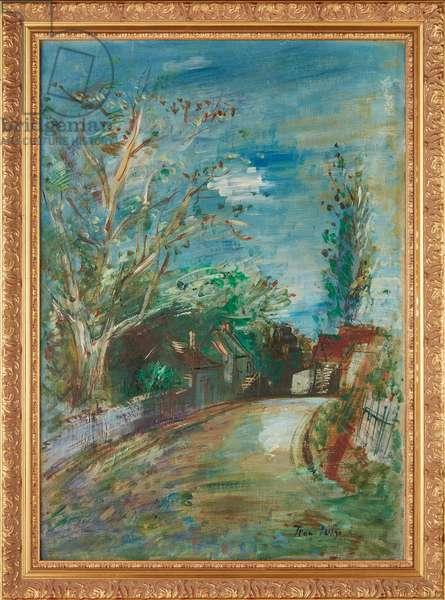 Route De Rives (Touraine) (oil on canvas)