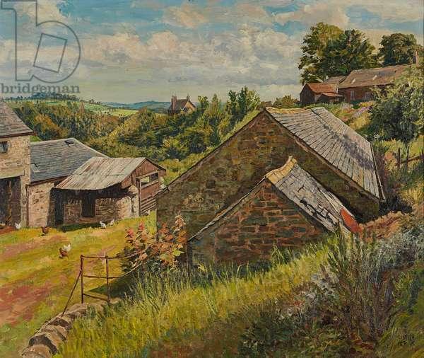 June Landscape, Fowlis (oil on canvas)