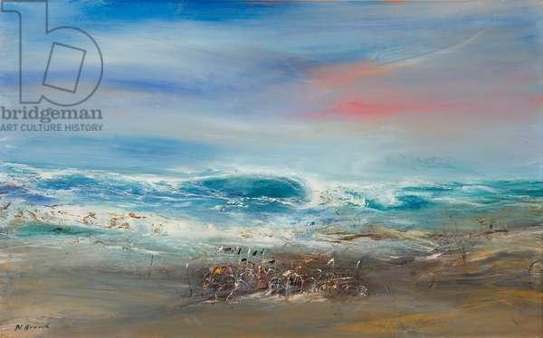 East Coast Breakers (oil on canvas)