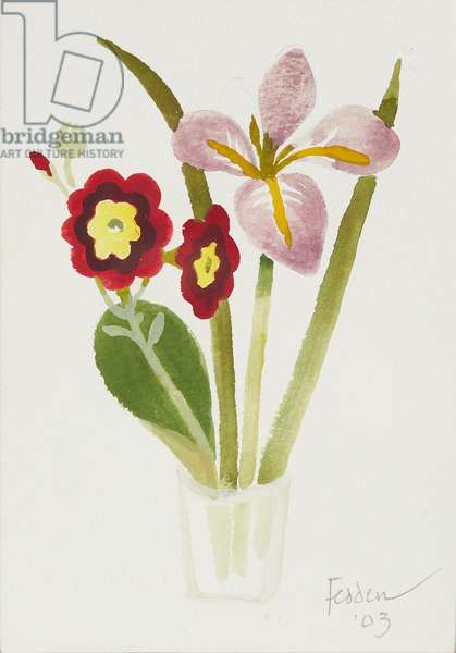 Spring Flowers, 2003 (watercolour)