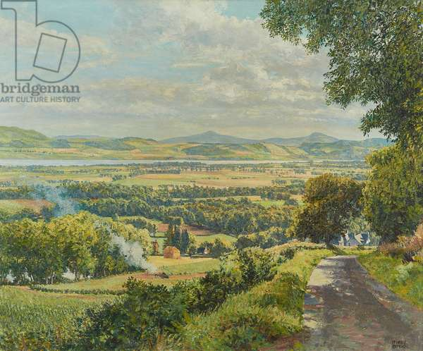 The Road from Millhill, Angus (oil on canvas)