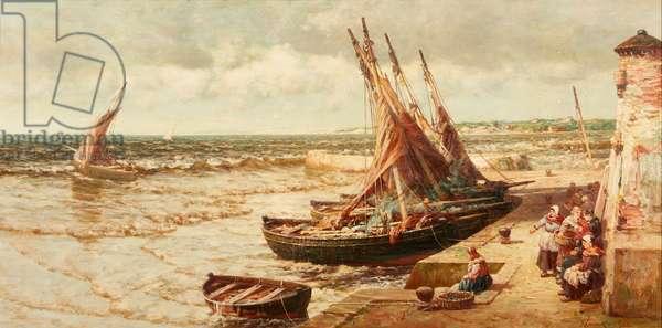 St. Monance Harbour (oil on canvas)
