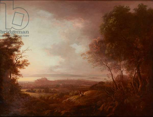 View of Edinburgh from Blackford Hill (on canvas)