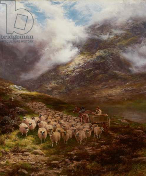 To Valley Pastures (oil on canvas)
