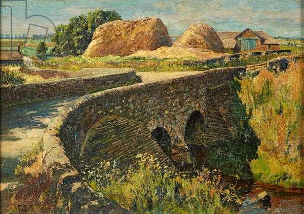 Dronley Bridge, Perthshire (oil on canvas)