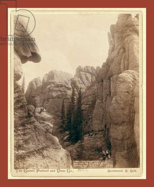 Lake Harney Peaks, Near Custer City, S.D., on B. & M. Ry