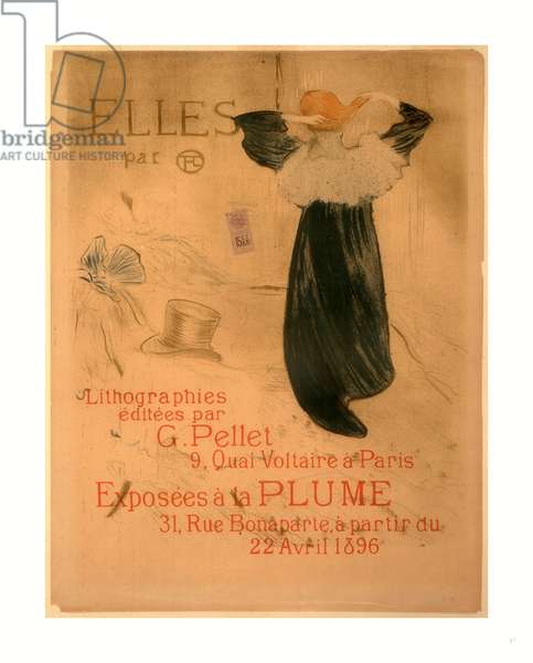 Poster for Elles, French, 1864  1901, 1896, Lithograph in Olive Green, Blue, and Orange