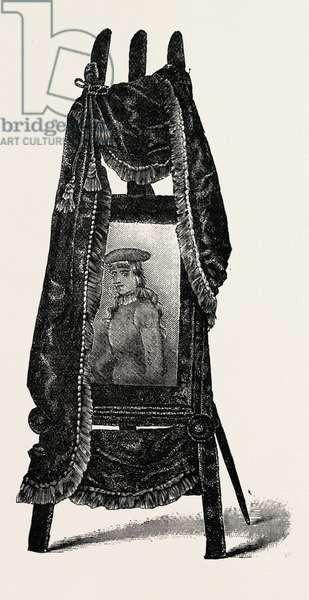 Easel Photograph Frame, Engraving 1882