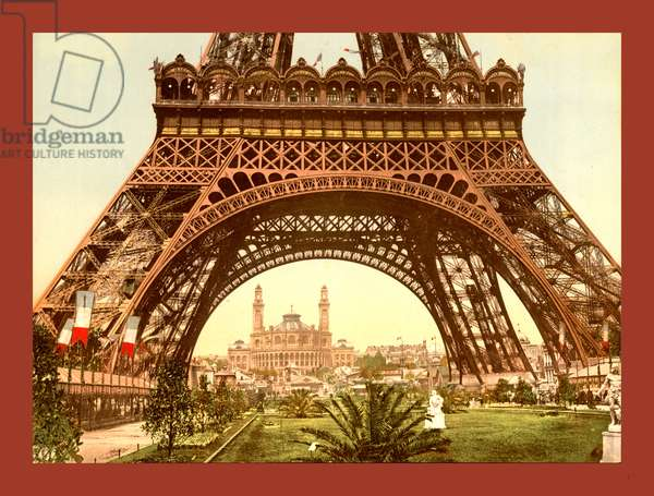 Eiffel Tower and the Trocadero, Exposition Universal, 1900, Paris, France, Between Ca. 1890 and Ca. 1900