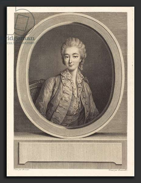 Jacques-Firmin Beauvarlet after Francois-Hubert Drouais (French, 1731 - 1797), Madame du Barry, engraving ©LisztCollection/Leemage
