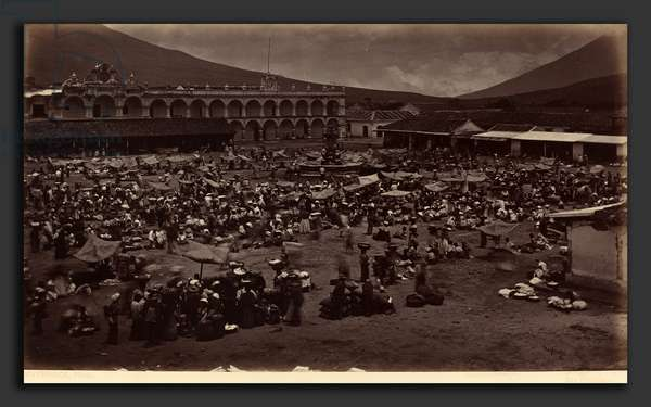 Eadweard Muybridge (American, born England, 1830 - 1904), Plaza and Viceroy's Palace-Antigua de Guatemala, 1877, albumen print ©QuintLox/Leemage