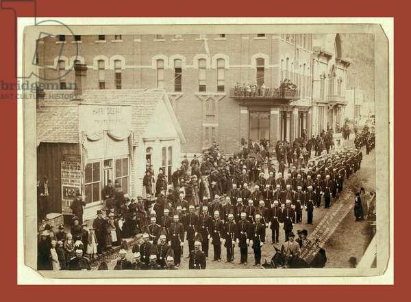 Deadwood. Grand Lodge I.O.O.F. of Dakotas. Street Parade, May 21, 1890