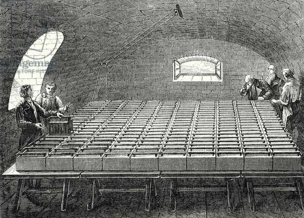 The Large Battery of Wollaston Built by Davy in 1807 at the Royal Institute in London