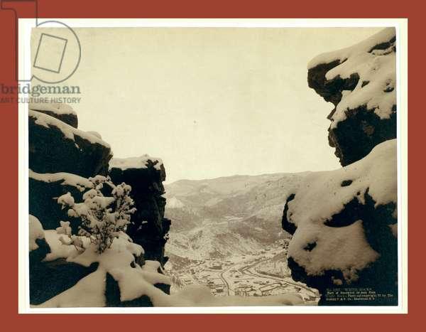White Rocks. Part of Deadwood As Seen from White Rocks