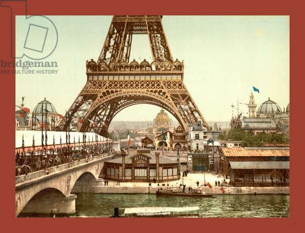 Eiffel Tower and General View of the Grounds, Exposition Universal, 1900, Paris, France, Between Ca. 1890 and Ca. 1900