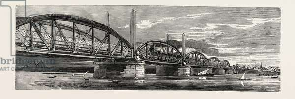 Egypt, Bridge, Engraving 1879