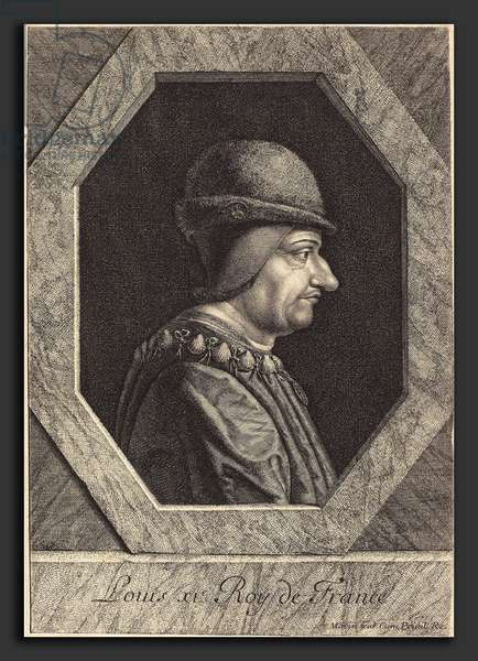 Portrait de Louis XI dit le Prudent - Jean Morin (French, c. 1600 - 1650), Louis XI, etching, engraving, and stippling on laid paper ©QuintLox/Leemage