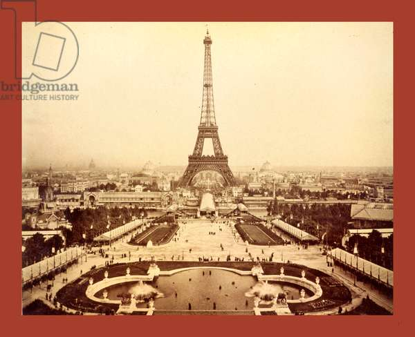 Eiffel Tower and Champ De Mars Seen from Trocadéro Palace, Paris Exposition, 1889