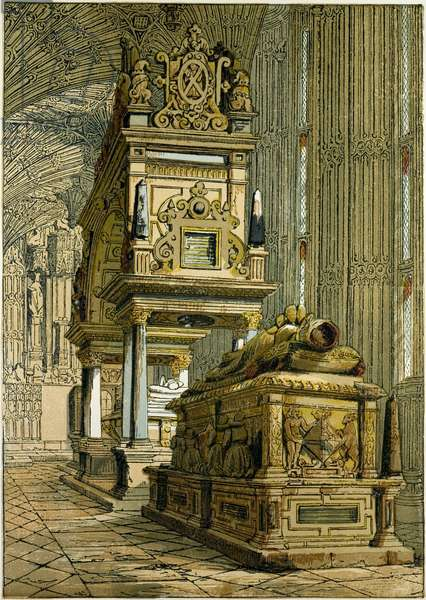 Tomb of Mary Queen of Scots: Westminster Abbey UK