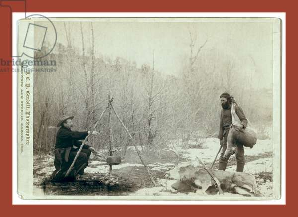 Hunting Deer. A Deer Hunt Near Deadwood in Winter '87 and ' Two Miners Millan and Hubbard Got Their Game