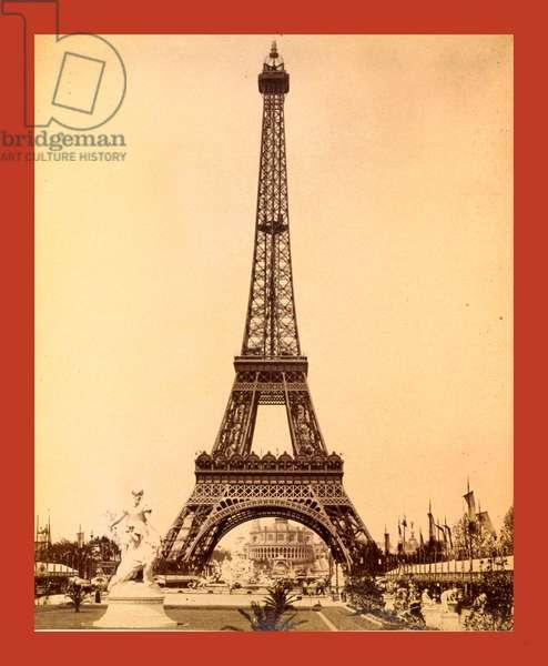 Eiffel Tower, Looking Toward Trocadéro Palace, Paris Exposition, 1889