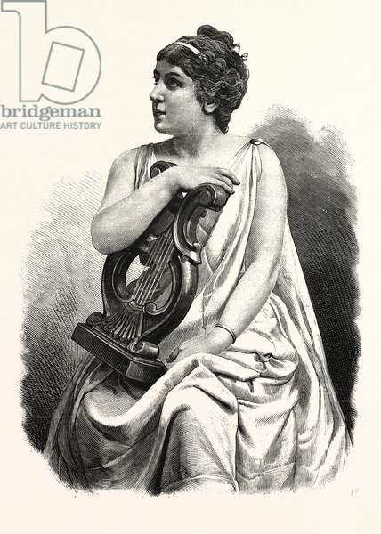 Madame Marie Roze - Mapleson, 1846 - 1926, French Opera Soprano, As Margherita in the Opera of Mefistofele, Engraving 1880 1881