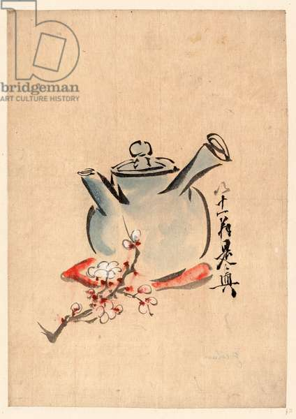 [Teapot with Cherry or Plum Blossoms] [Between 1750 and 1850] 1 Painting : Color.