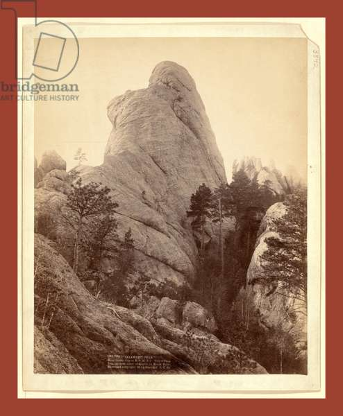 Calamnity, Calamity Peak. Near Custer City on B. & M. R'Y. Title of Peak from the Most Noted Character in Black Hills