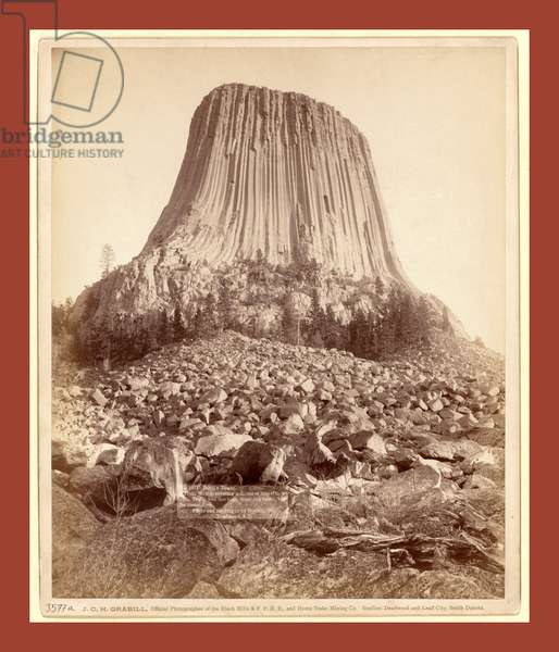 Devil's Tower. From West Side Showing Millions of Tons of Fallen Rock. Tower 800 Feet High from Its Base