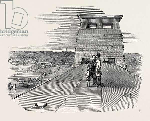 Prince Albert, the Prince of Wales, and Mr. Stephenson, Upon the Roof of the Britannia Tubular Bridge, 1852