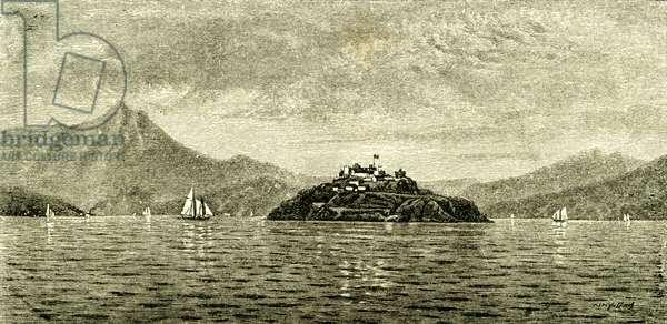 San Francisco Bay and Alcatraz Island 1891 USA