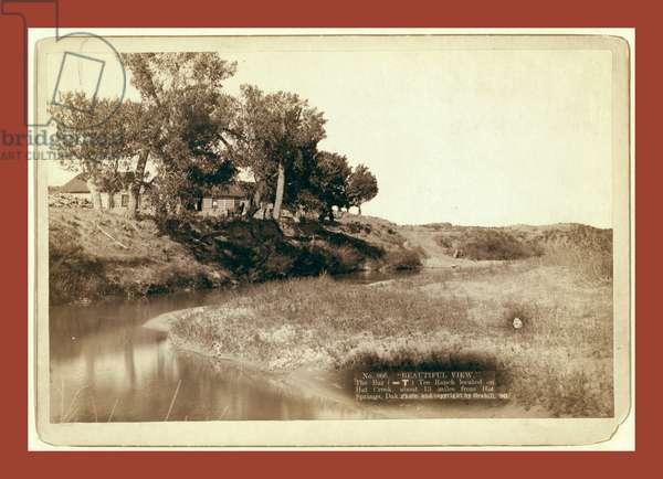 Beautiful View. The Bar (-T) Tee Ranch Located on Hat Creek, About 13 Miles from Hot Springs, Dak.