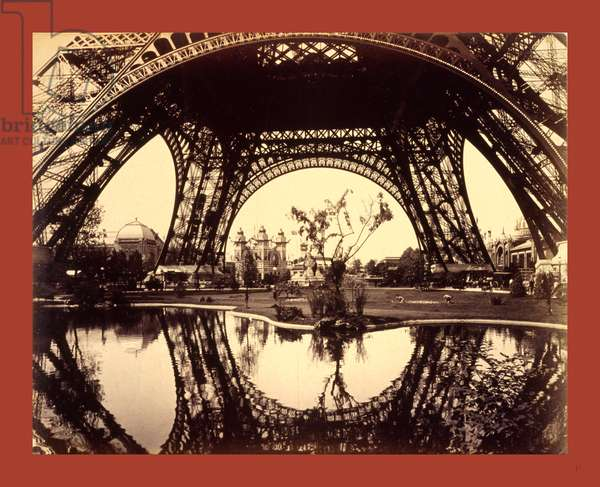 Exhibit Buildings and Grounds Seen Through the Lower Part of the Eiffel Tower, Paris Exposition, 1889, France