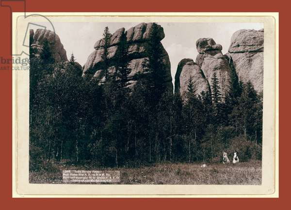 Lake Harney Peaks. Near Custer City, S.D. On B. & M. Ry