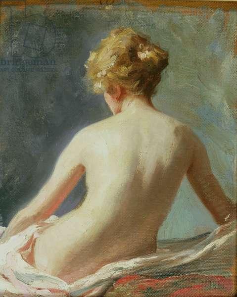 Female Nude (oil on board)