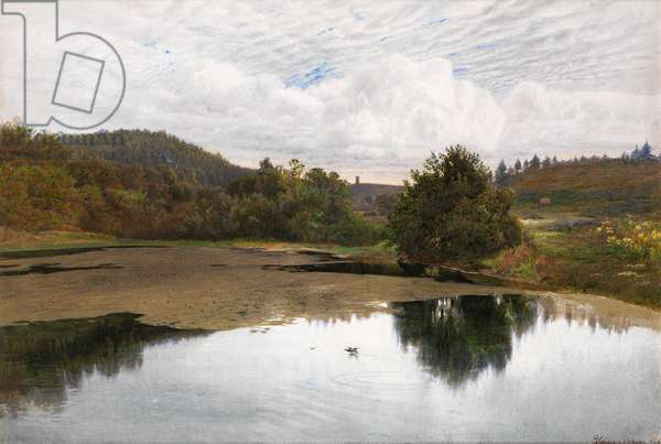 Leith Hill, from Broadmoor, Surrey, 1860 (w/c, pen and ink with gum arabic)