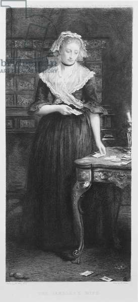 The Gambler's Wife, engraved by Charles A. Waltner (1846-1925) pub. by Thomas Agnew & Sons, 1879 (etching)