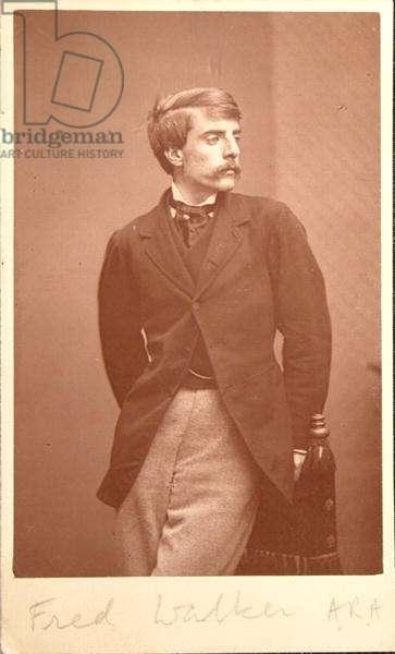 Frederick Walker's (1840-75) visiting card (sepia photo)