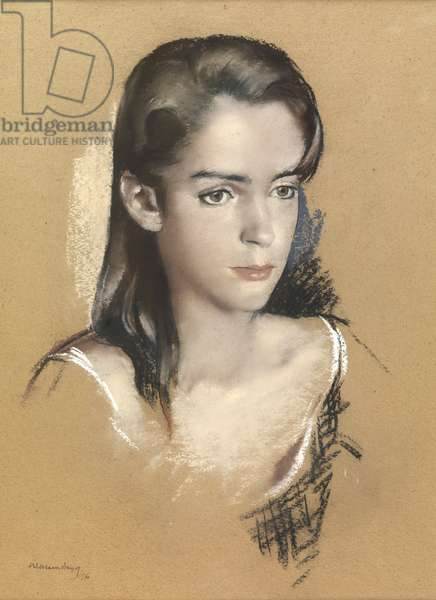 Portrait of a girl, 1976 (pastel on paper)