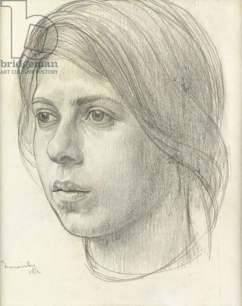 Head of a Girl, 1912 (pencil on paper)