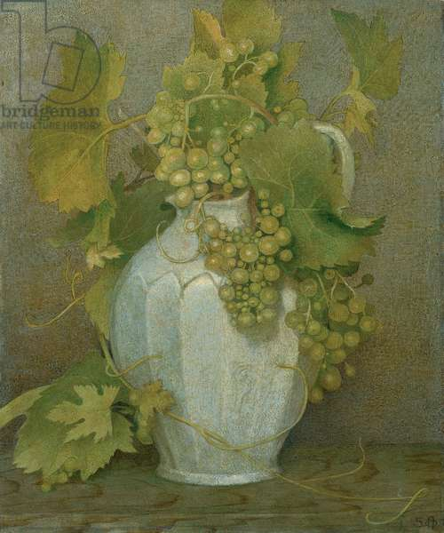 Grape Vines and Jug, 1950 (tempera on canvas laid down of panel)