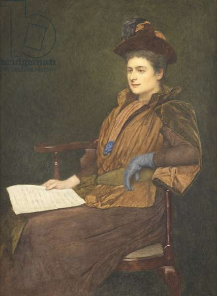 Miss Agnes Ashbee, 1890 (w/c & gouache on paper)