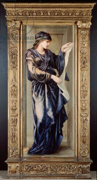 The Cumaean Sibyl, 1877 (oil on panel)
