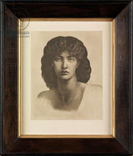Study of Jane Morris for Astarte Syriaca (photogravure)