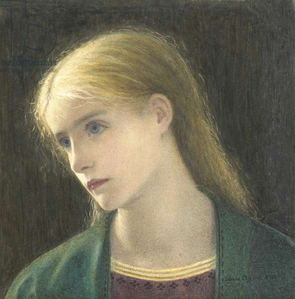 Evelyn Hope, 1870 (w/c with scratching out)