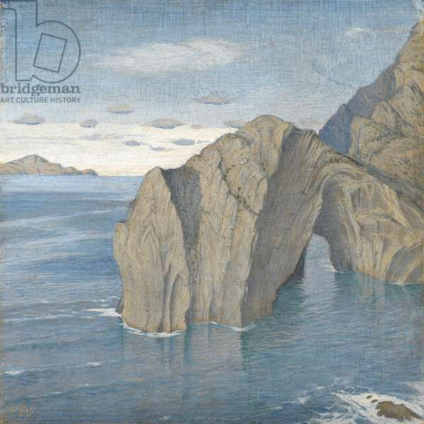 From Sant Elm, Isla Dragonera in the Background, 1952 (tempera on board)