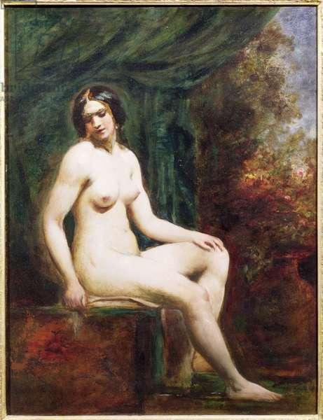 Seated Female Nude (board)
